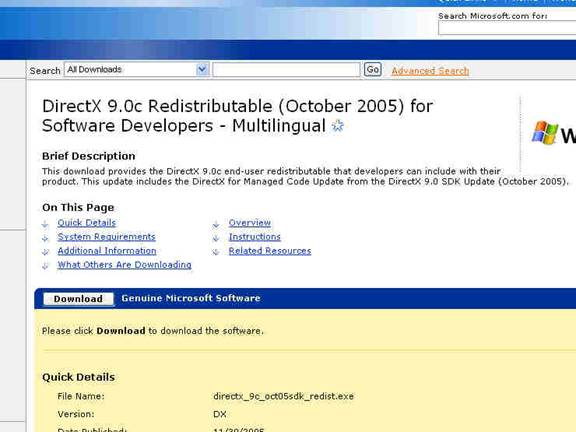 directx 9.0 for managed code download